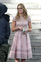 "Melissa Benoist - On the Set of ""Supergirl"" in Vancouver 10/11/2017"