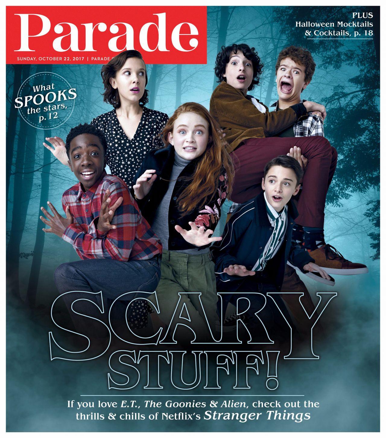 Millie Bobby Brow and Sadie Sink - Parade Magazine October 22, 2017