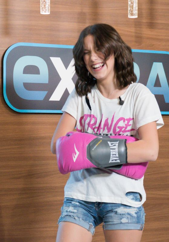 """Millie Bobby Brown at """"Extra""""in Los Angeles 10/28/2017"""