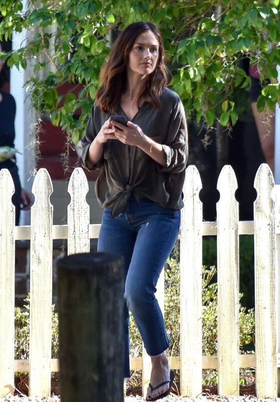 "Minka Kelly - Filming ""The Beach House"" in Savannah 10/25/2017"