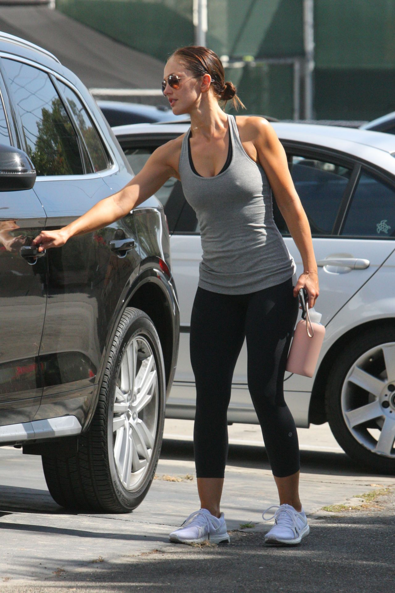 Minka Kelly in Tights Out in Beverly Hills