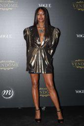 Naomi Campbell – Vogue Party at PFW in Paris 10/01/2017