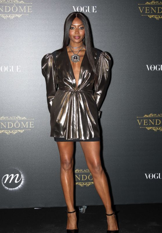 Naomi Campbell – Vogue Party at PFW in Paris 10/01/2017