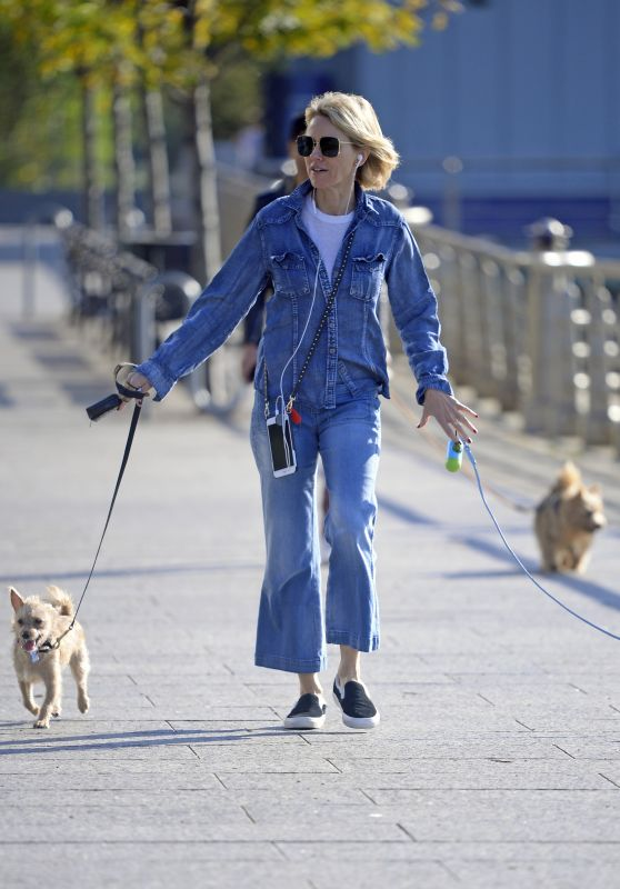 Naomi Watts Walking Her Dog in Tribeca, NYC 10/12/2017