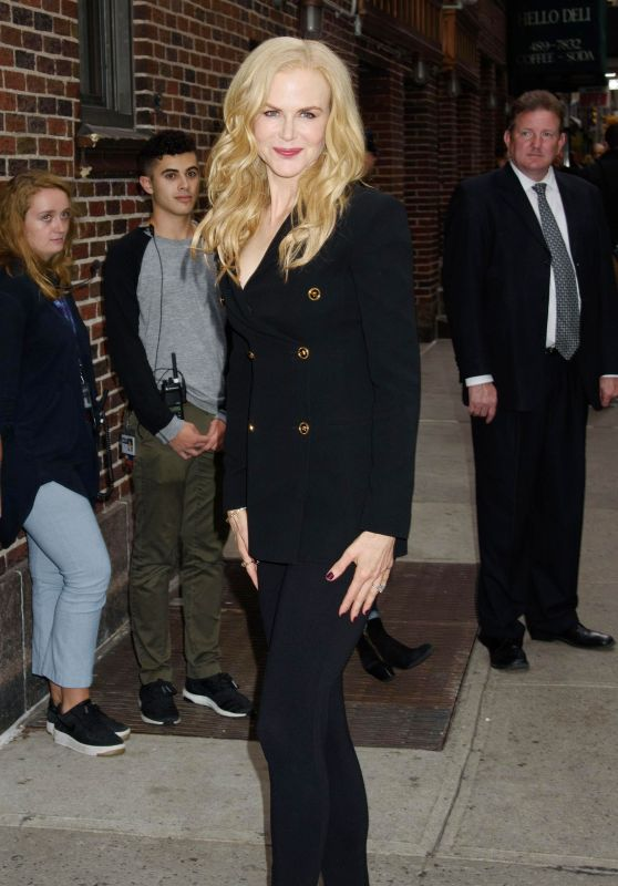 Nicole Kidman - Leaving Late Show with Stephen Colbert in New York 10/23/2017