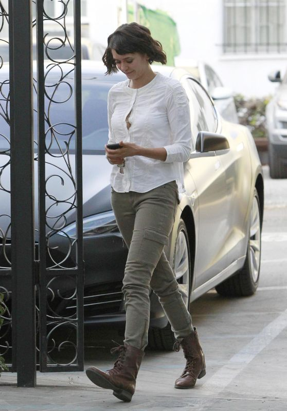 Nina Dobrev Cute Style - at Nine Zero Salon in West Hollywood