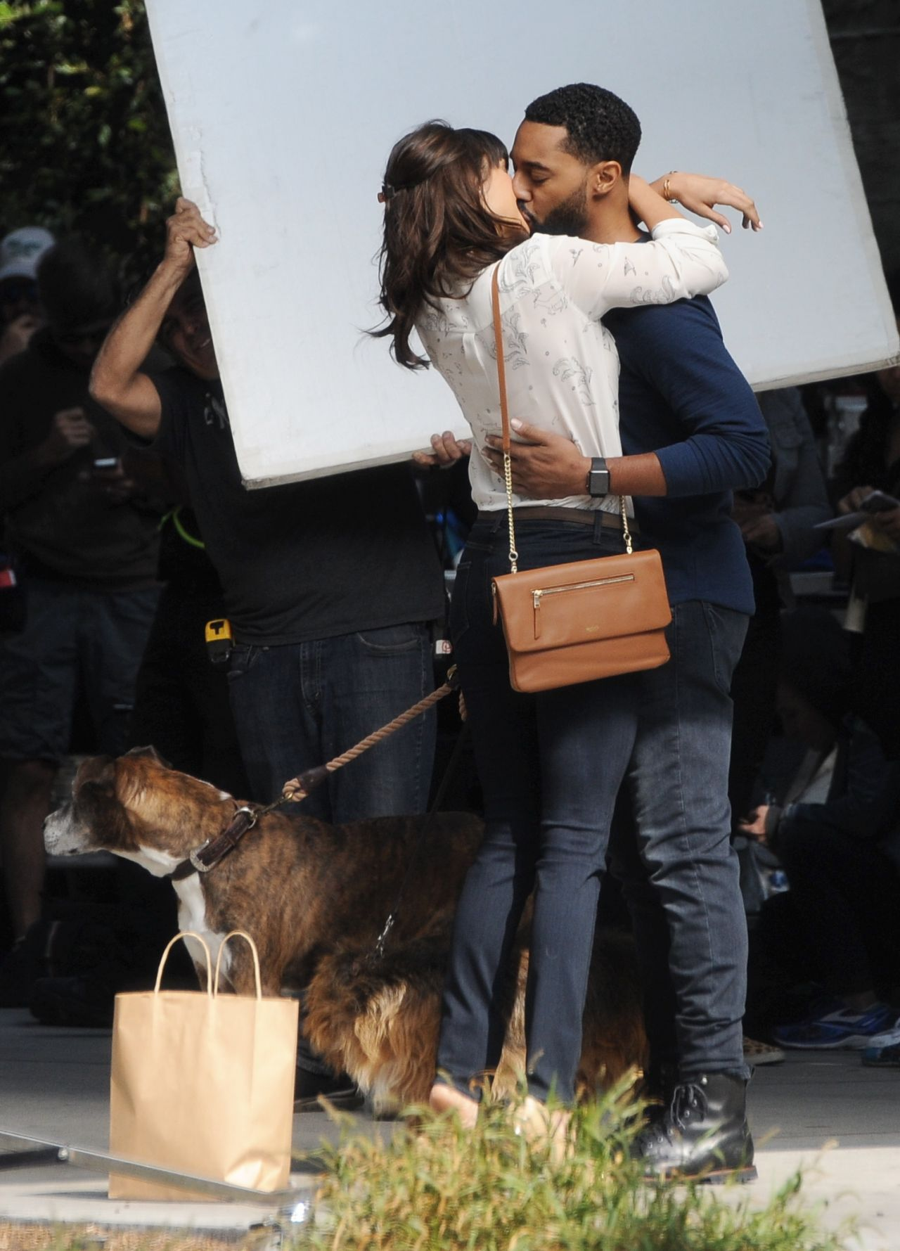 """Filming In Progress The Most Beautiful Actress In The World: """"Dog Days"""" Filming In Downtown Los Angeles"""