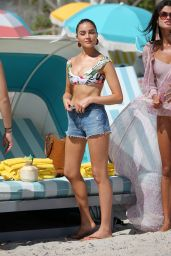 Olivia Culpo, Devon Windsor and Daniela Braga Bikini Candids - Miami 10/20/2017