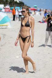 Olivia Culpo & Devon Windsor - Bikini Photoshoot on Miami Beach 10/20/2017