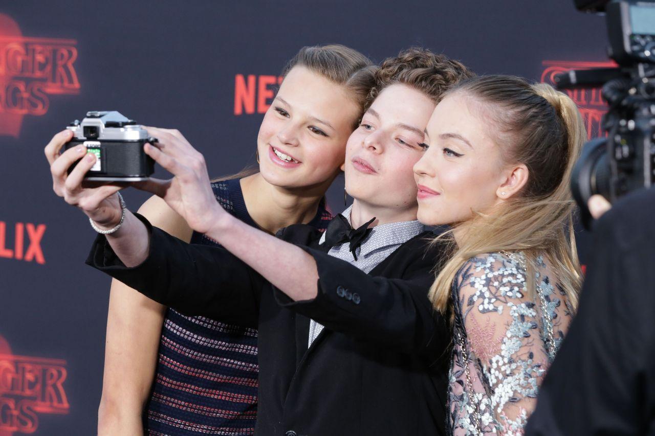 "Peyton Kennedy, Quinn Lieblinga and Sydney Sweeney – ""Stranger Things"" Season 2 Premiere in LA"