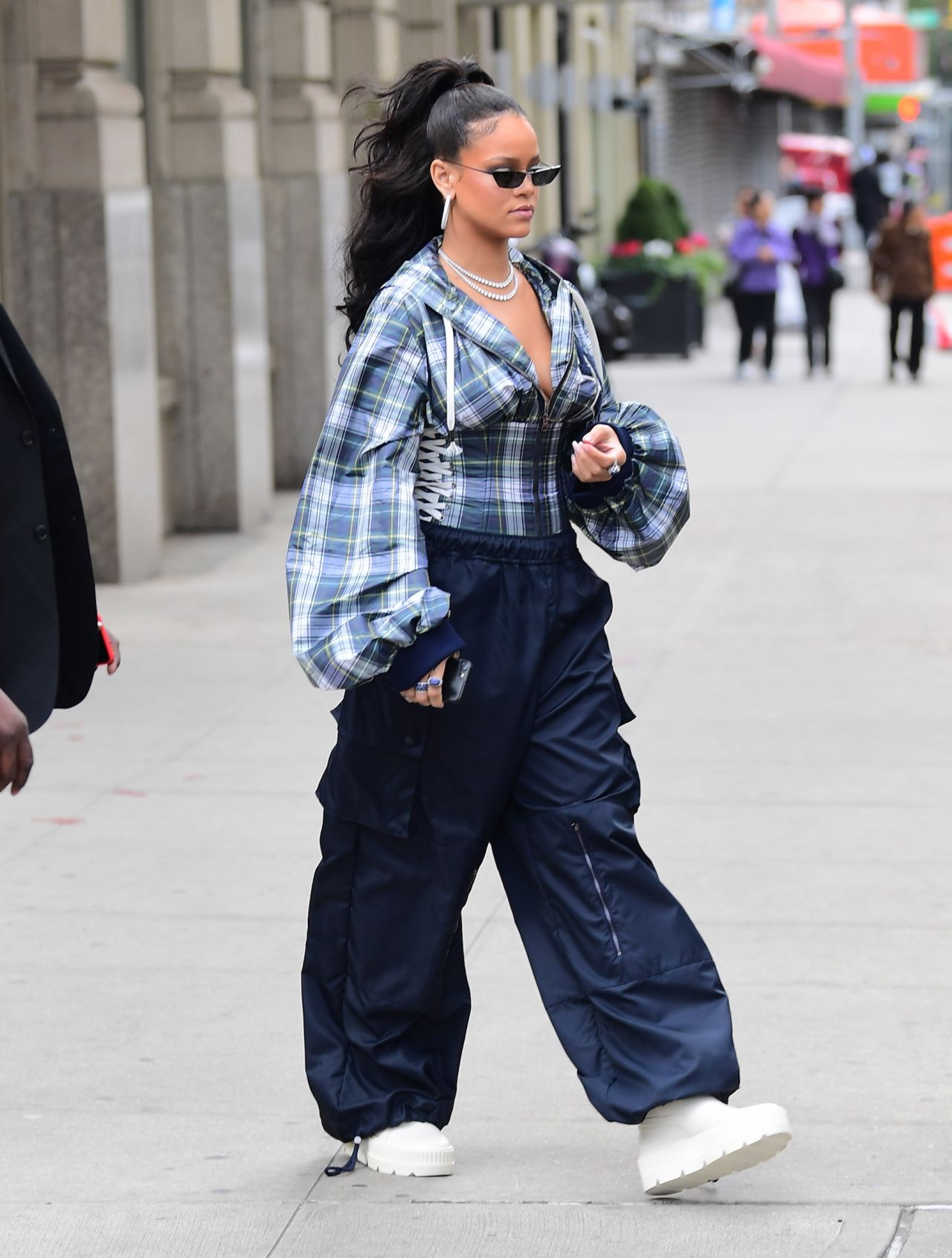 Rihanna Street Fashion - New York City 10/13/2017