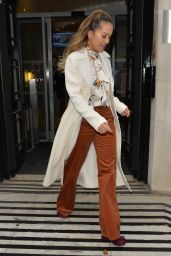 Rita Ora Style and Fashion - Leaves BBC Radio Two in London 10/21/2017