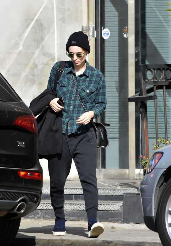 Rooney Mara Casual Look - West Hollywood 10/11/2017