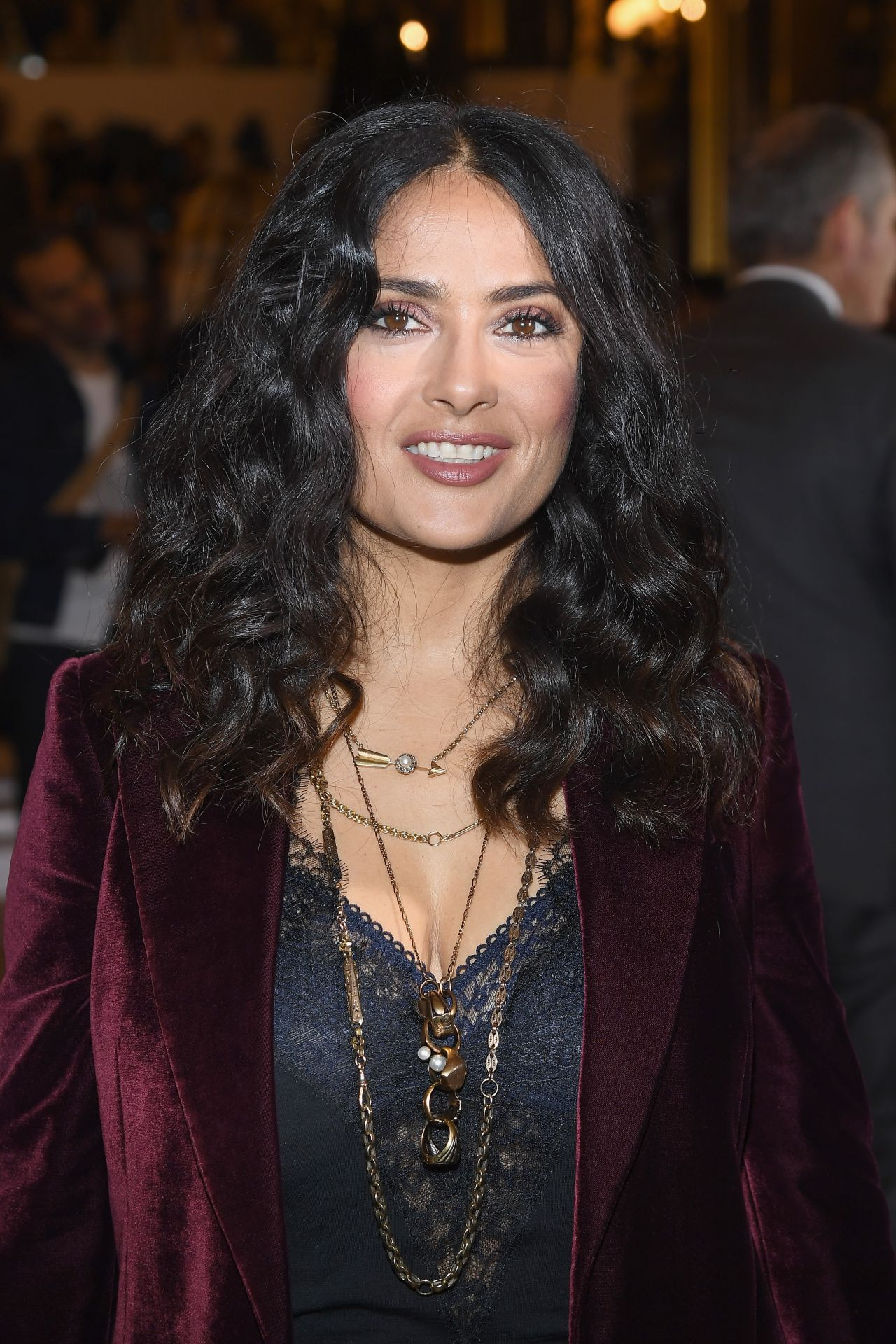 Salma Hayek – Stella McCartney Fashion Show, PFW in Paris ... Salma Hayek