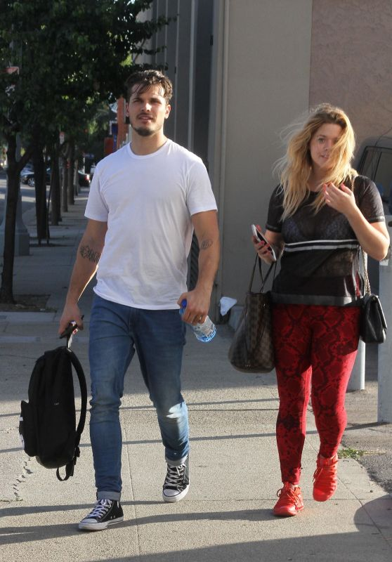 Sasha Pieterse with Gleb Savchenko - Heads Into Dance Practice in LA 10/15/2017