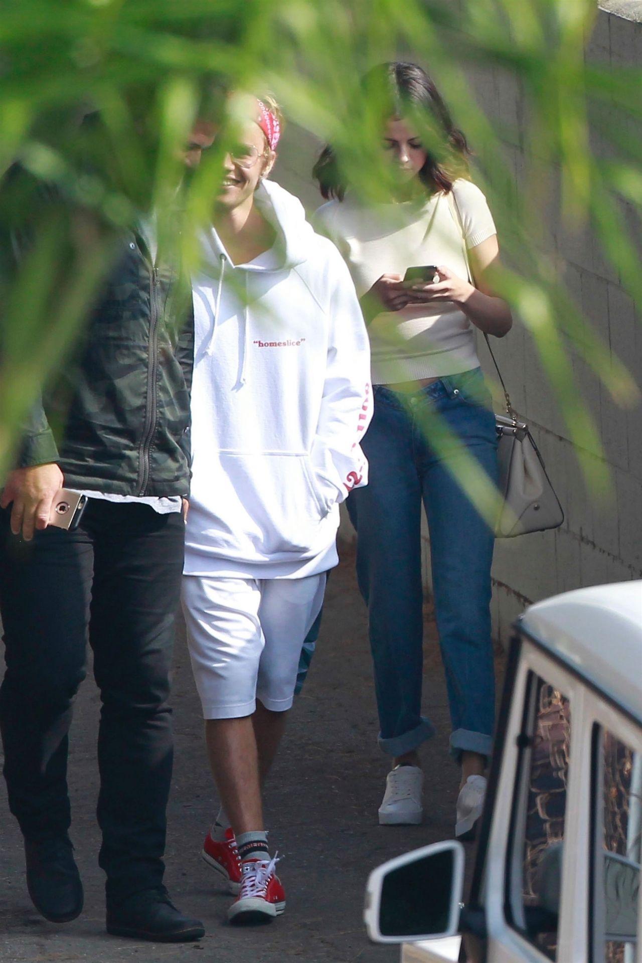 Selena Gomez at Church Services With Justin Bieber in LA ...