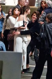 Selena Gomez - Giving  Dakota Johnson a Hug in NYC 10/03/2017