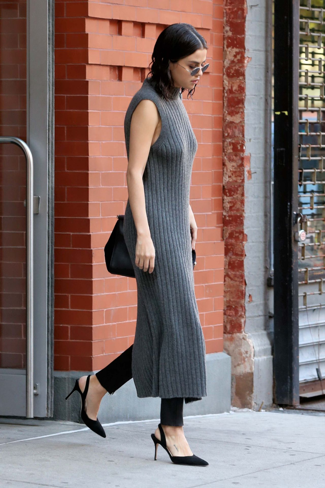 selena gomez style and fashion leaving her apartment in