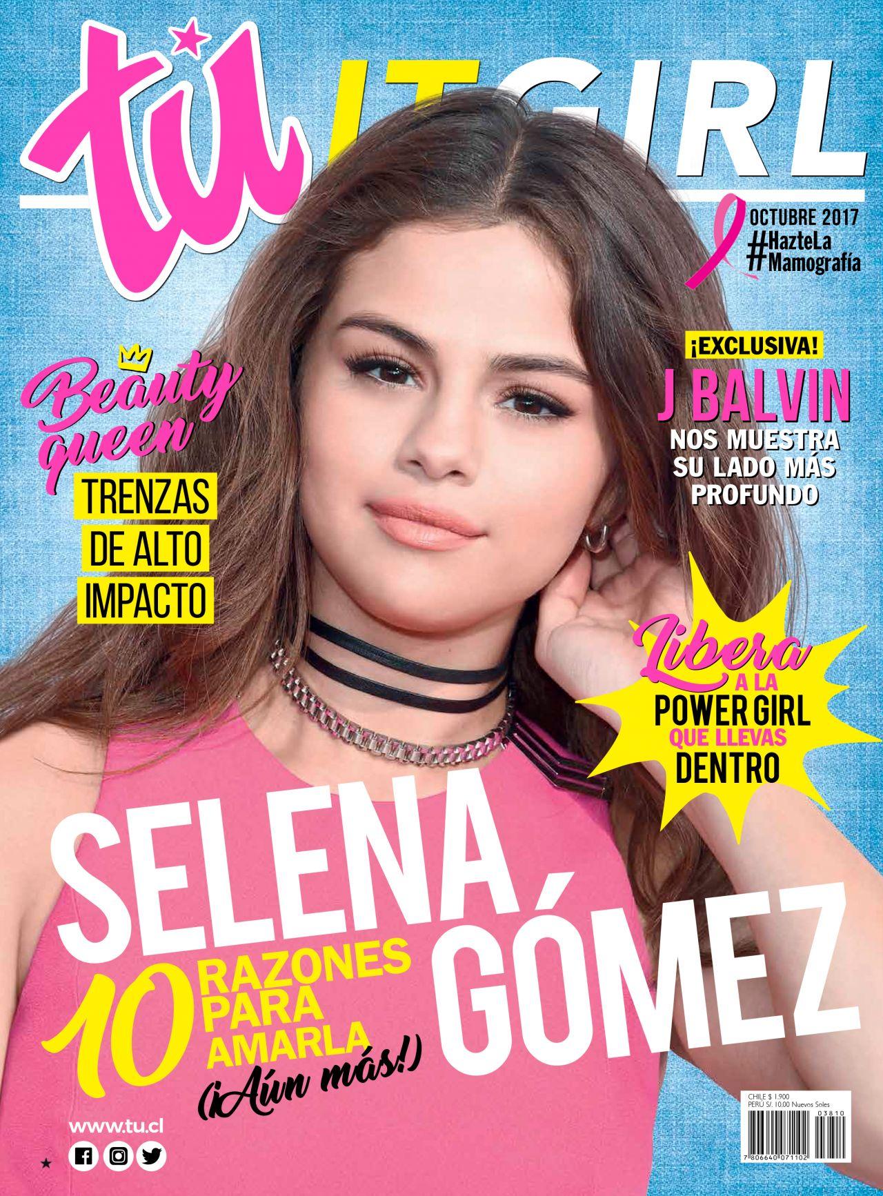 Selena Gomez - Tú Magazine Chile Cover, October 2017