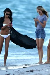 Shanina Shaik, Caroline Lowe, Olivia Culpo and Daniela Braga Bikini Photoshoot on the Beach in Miami Beach