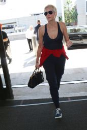 Sharon Stone at the LAX Airport in Los Angeles 10/24/2017
