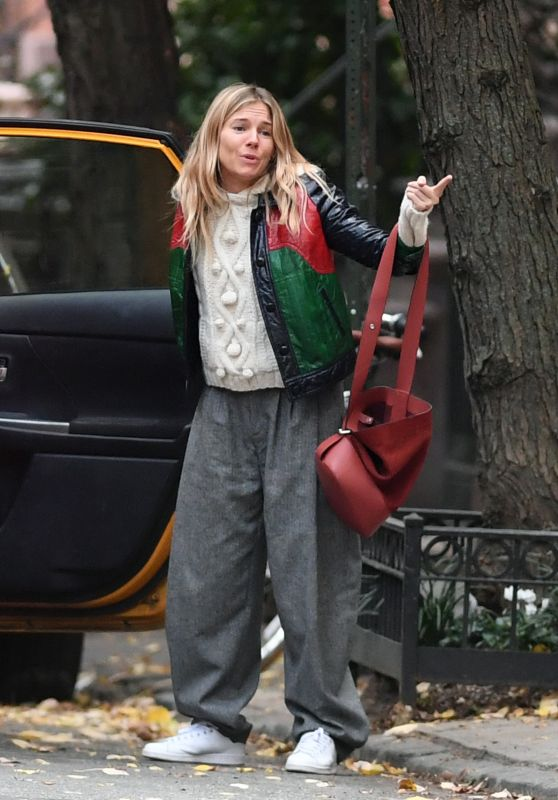 Sienna Miller in Casual Attire - New York City 10/16/2017