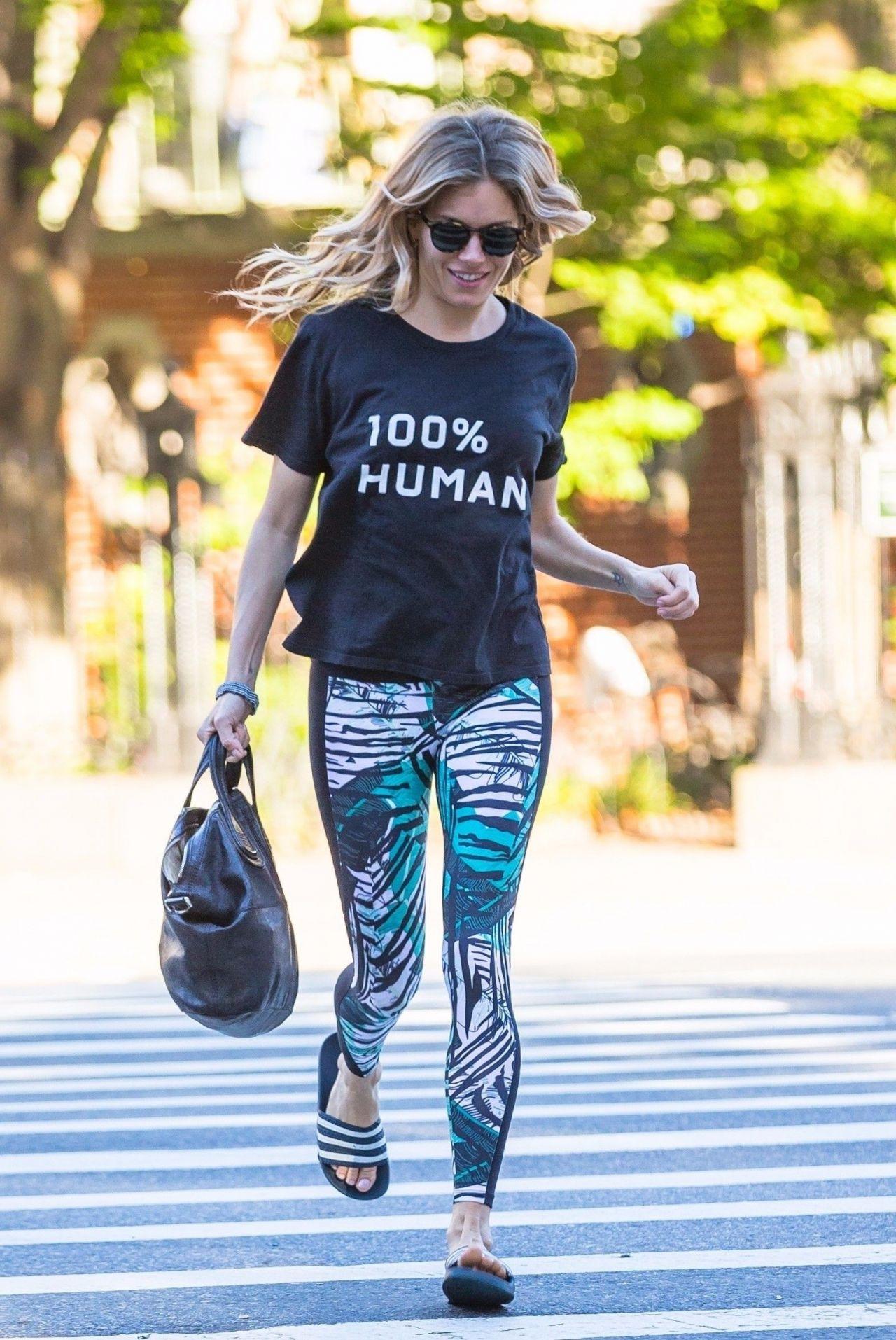 Sienna Miller in Leggings - New York 10/11/2017