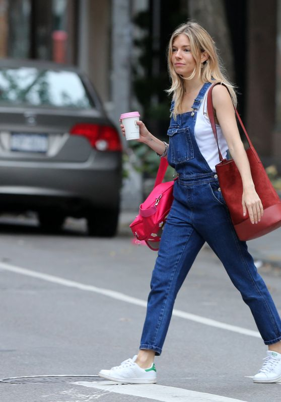 Sienna Miller Street Style - West Village, NYC 10/14/2017