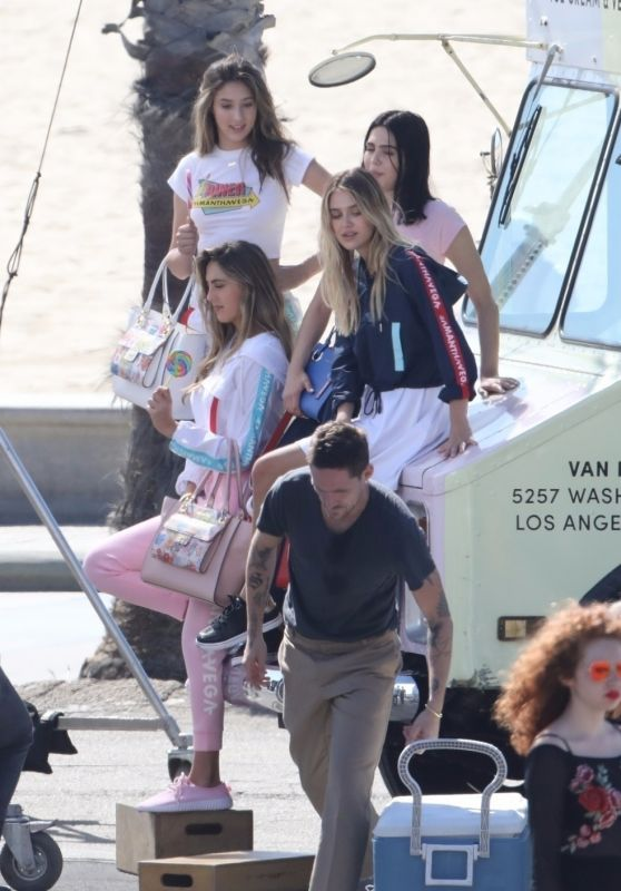 Sistine and Scarlet Stallone, Amelia Hamlin and Delilah Hamlin - Photoshoot in Santa Monica 10/15/2017
