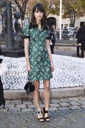 Stacy Martin – Miu Miu Fashion Show in Paris 10/03/2017