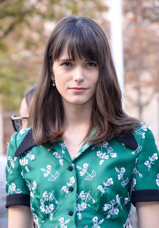 Stacy Martin – Miu Miu Fashion Show in Paris 10/03/2017