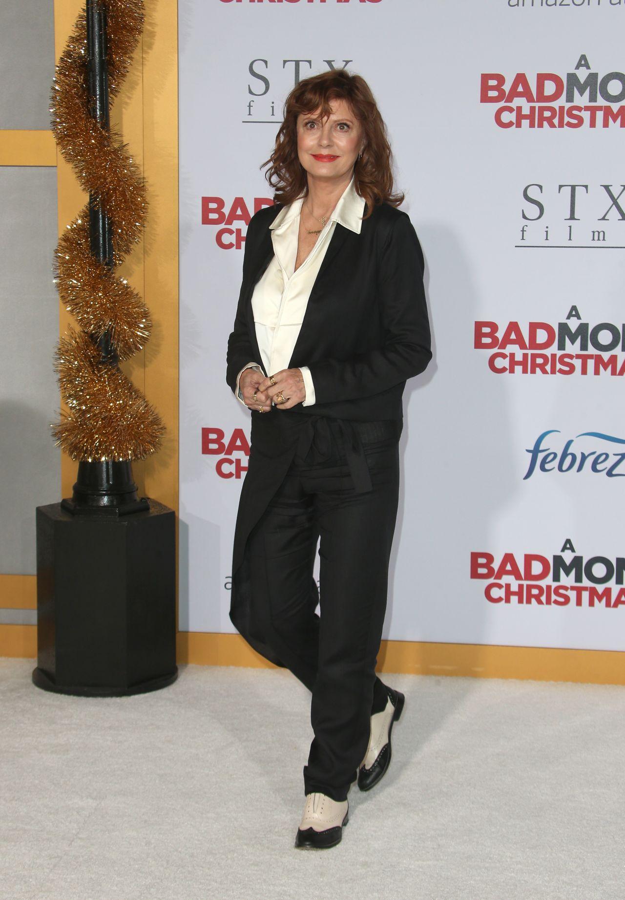 Bad Moms Christmas Susan Sarandon.Susan Sarandon A Bad Moms Christmas Premiere In Westwood