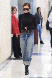 Victoria Beckham - Arrives at JFK Airport in NYC 10/11/2017