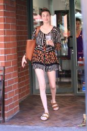 Whitney Port Leggy in Shorts - Leaves a Salon in Beverly Hills 10/24/2017