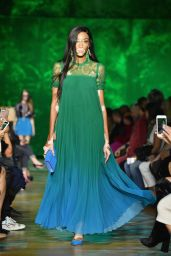 Winnie Harlow Walks Elie Saab Fashion Show, PFW in Paris 09/30/2017