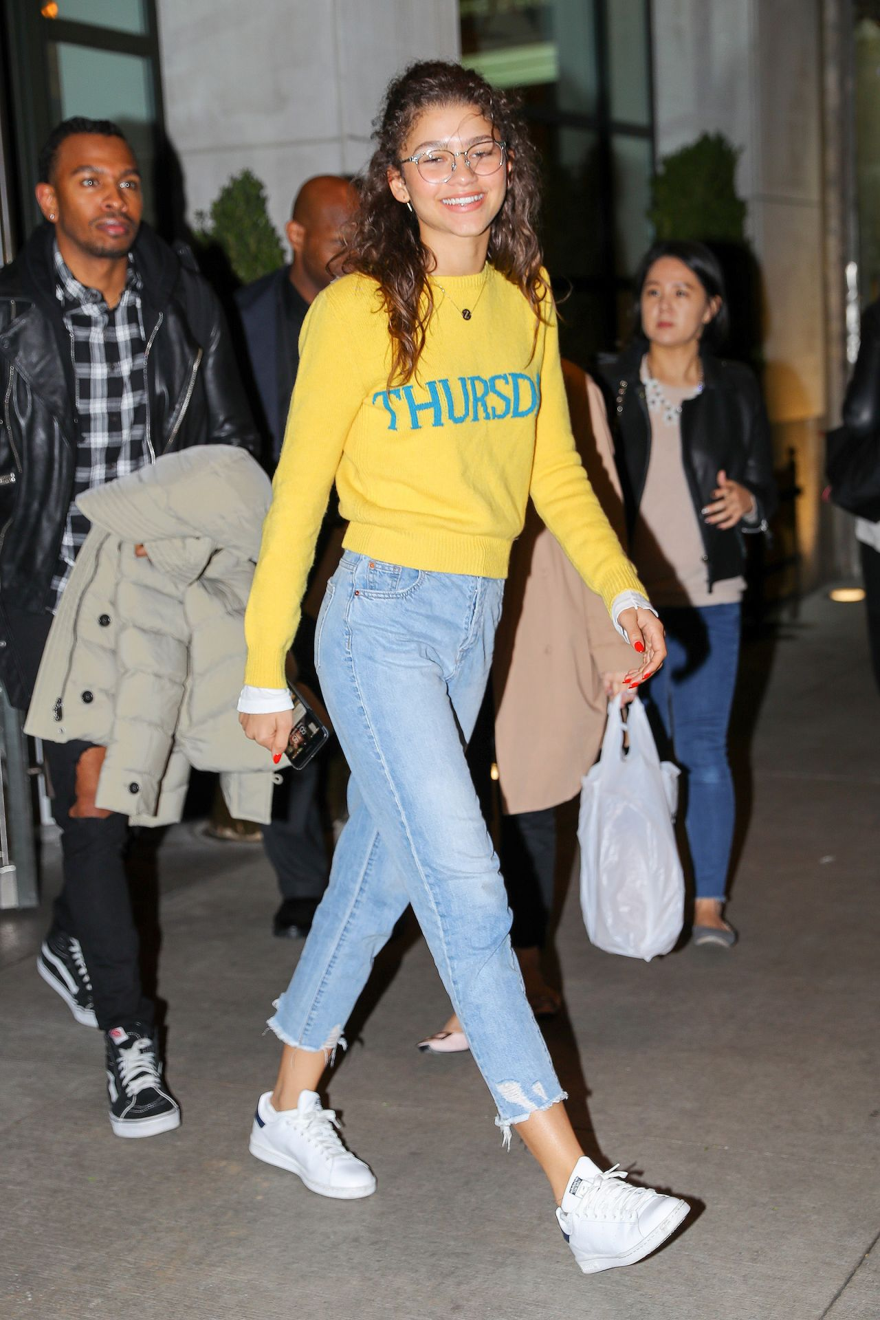Zendaya coleman street style out in nyc