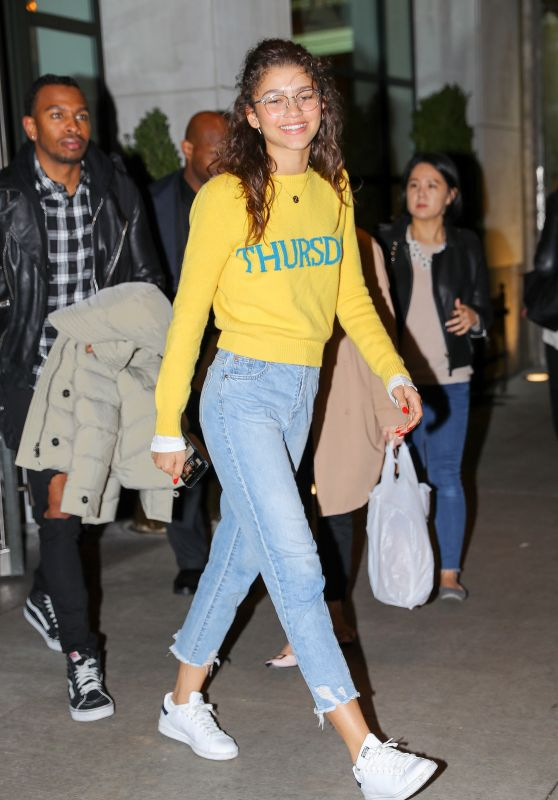 Zendaya Coleman Street Style - Out in NYC 10/27/2017