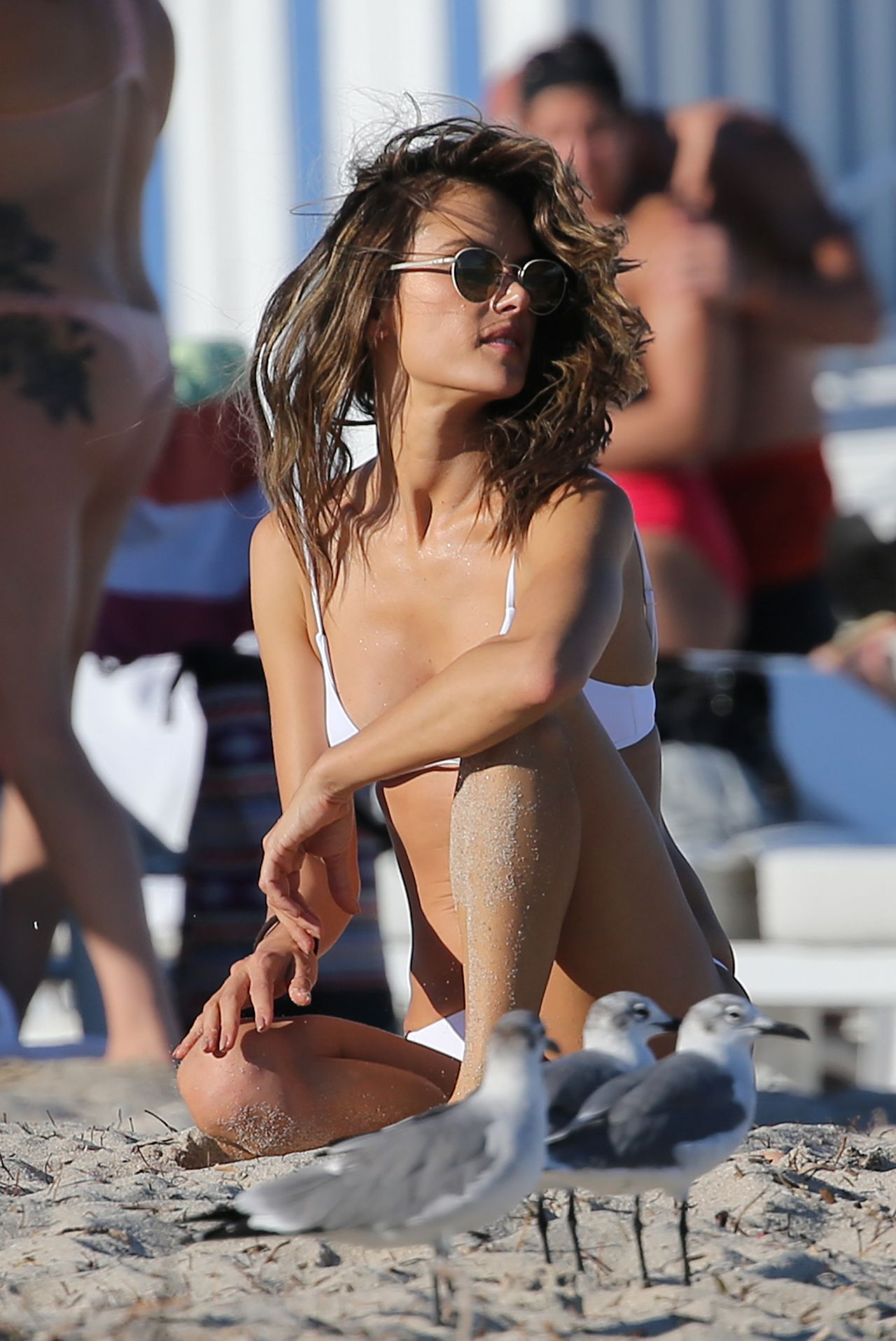 ALESSANDRA AMBROSIO in Bikini at a Beach in Malibu 05/28