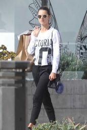 Alessandra Ambrosio - Leaving the Gym in Malibu 11/12/2017