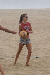 Alessandra Ambrosio - Plays Volleyball on the Beach in Santa Monica 11/25/2017