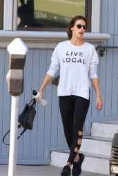 Alessandra Ambrosio Street Style - Out in Los Angeles 11/26/2017