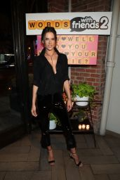 Alessandra Ambrosio - Words with Friends 2 Launch in West Hollywood 11/09/2017