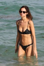 Alice Amelie in Bikini - Beach in Miami 11/01/2017
