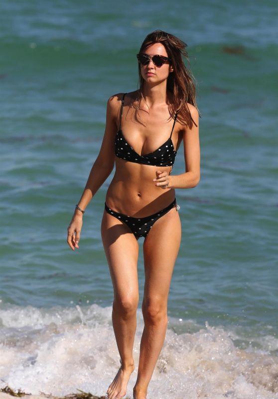Alice Amelie in Bikini - Beach in Miami 11/01/2017
