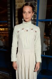 Alicia Vikander Celebrates the December Issue of British Vogue at the River Cafe in London 11/07/2017