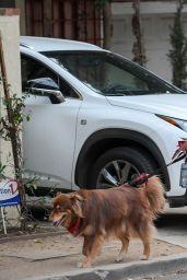 Amanda Seyfried - Takes Her Dog Finn for a Hike in LA