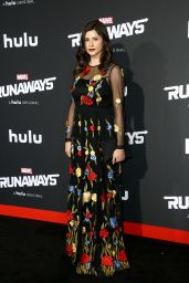 "Amber Coney – ""Runaways"" Premiere in Los Angeles, 11/16/2017"