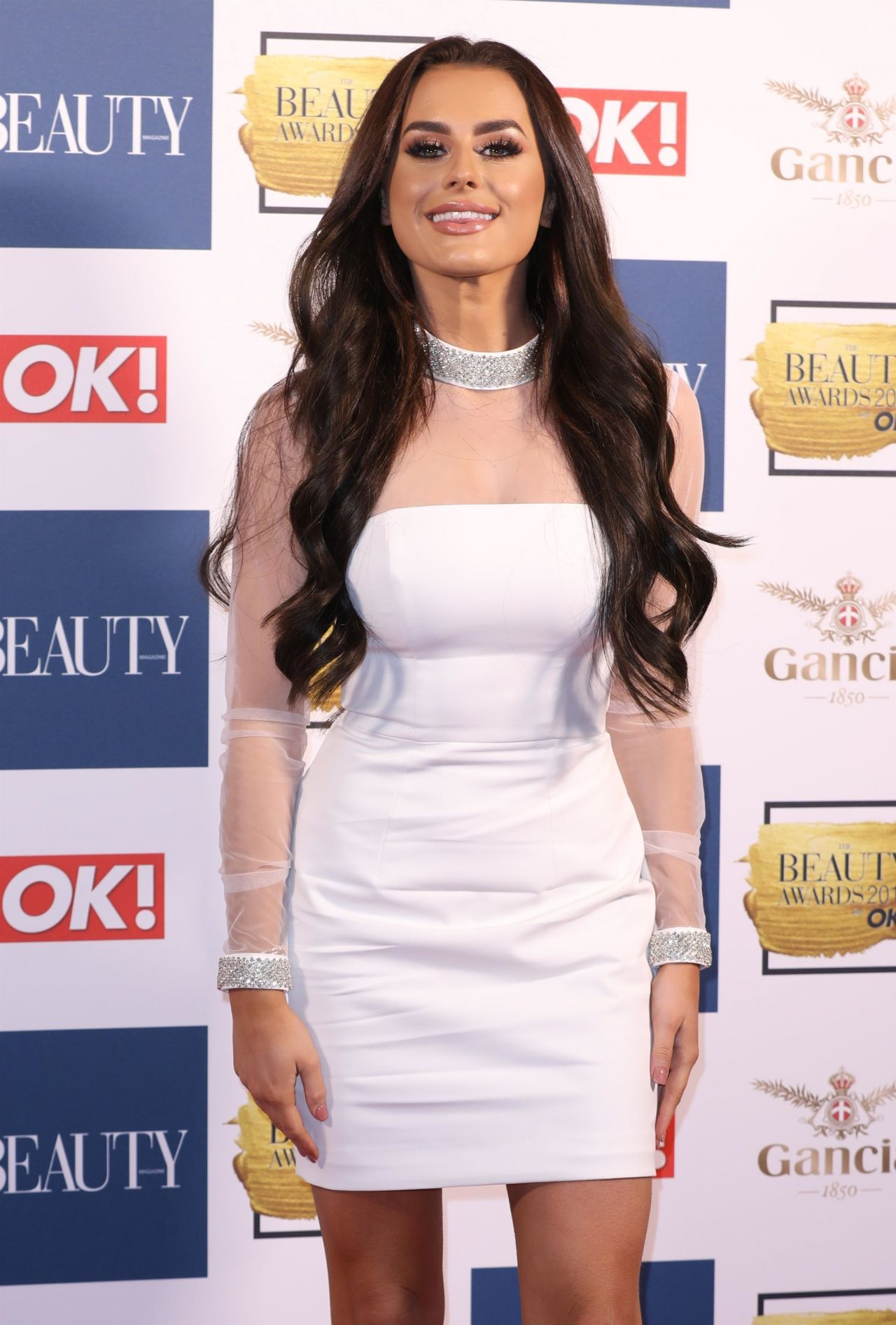 Amber Davies Beauty Awards With Ok In London