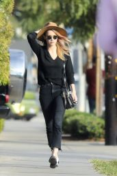 Amber Heard Casual Style - Leaves Cafe Gratitude in West Hollywood 11/10/2017