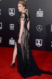 "Amber Heard – ""Justice League"" Red Carpet in Los Angeles"